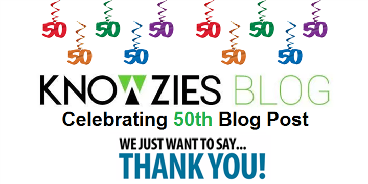 Knowzies Blog - 50th Blog Post